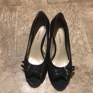 George pretty black heels